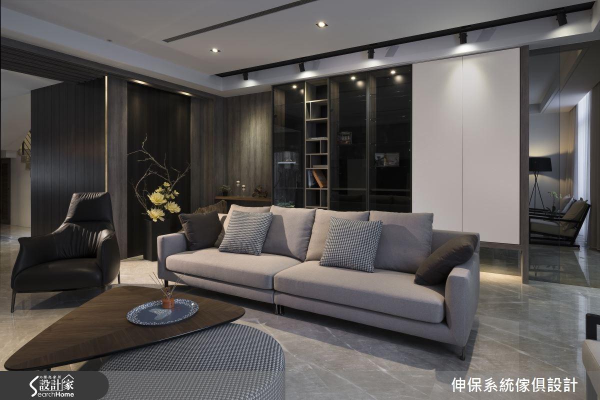 100坪預售屋_混搭風客廳案例圖片_伸保系統傢俱設計_伸保_01之3