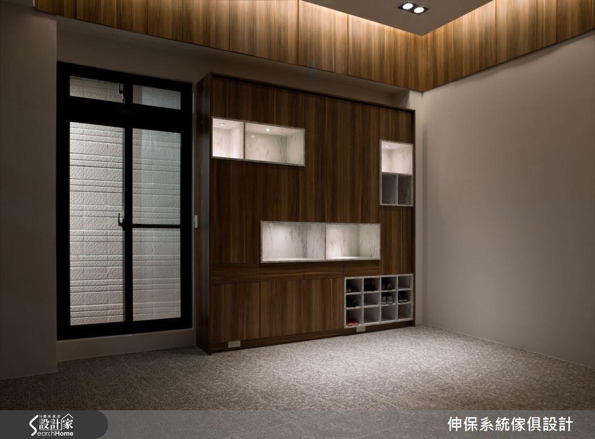 100坪新成屋(5年以下)_混搭風玄關案例圖片_伸保系統傢俱設計_伸保_03之2