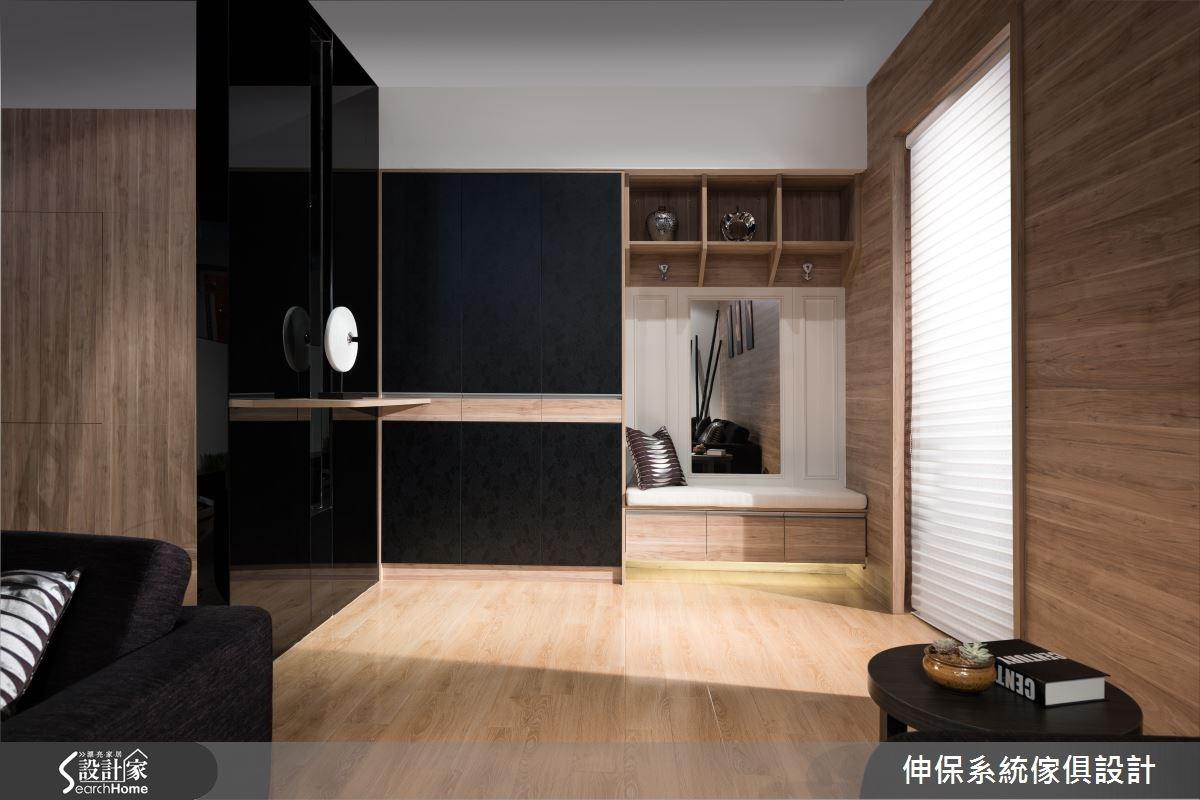 60坪新成屋(5年以下)_混搭風客廳案例圖片_伸保系統傢俱設計_伸保_04之1