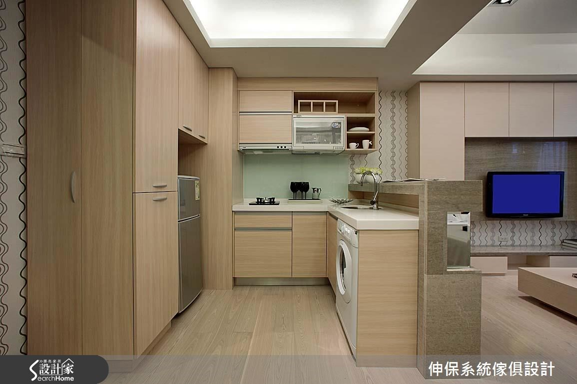 17坪預售屋_北歐風客廳廚房案例圖片_伸保系統傢俱設計_伸保_05之1