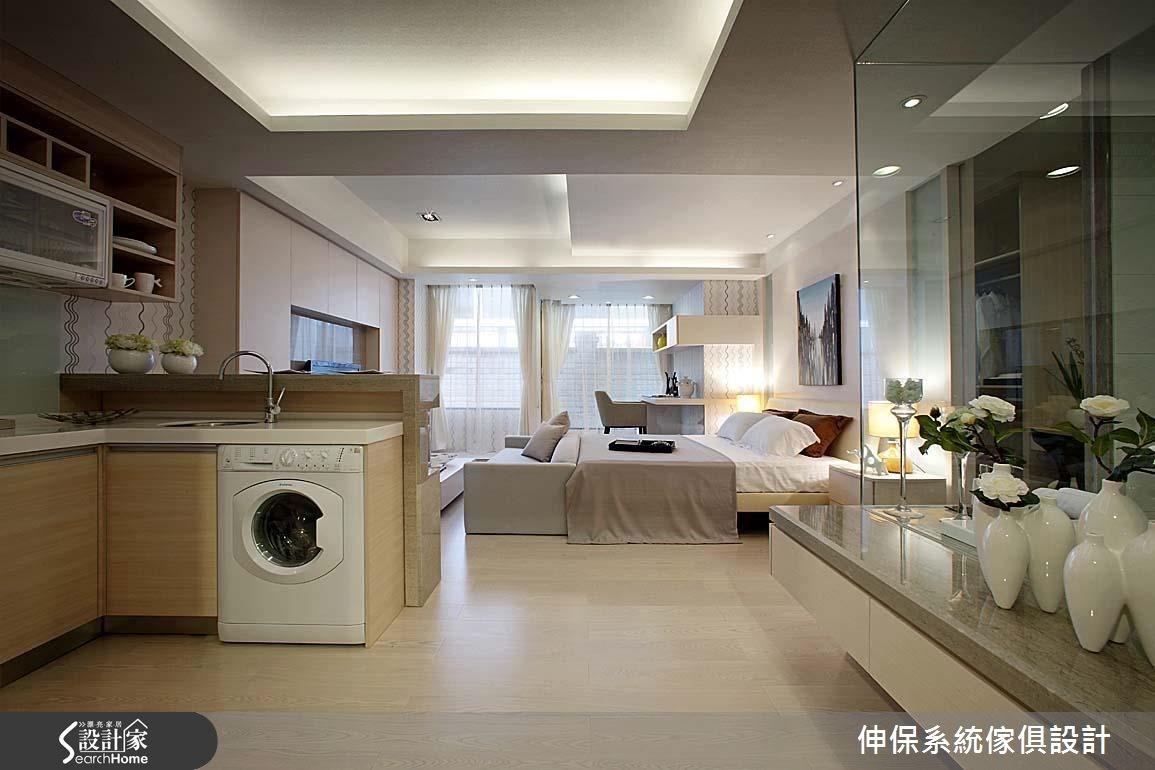 17坪預售屋_北歐風廚房臥室案例圖片_伸保系統傢俱設計_伸保_05之3