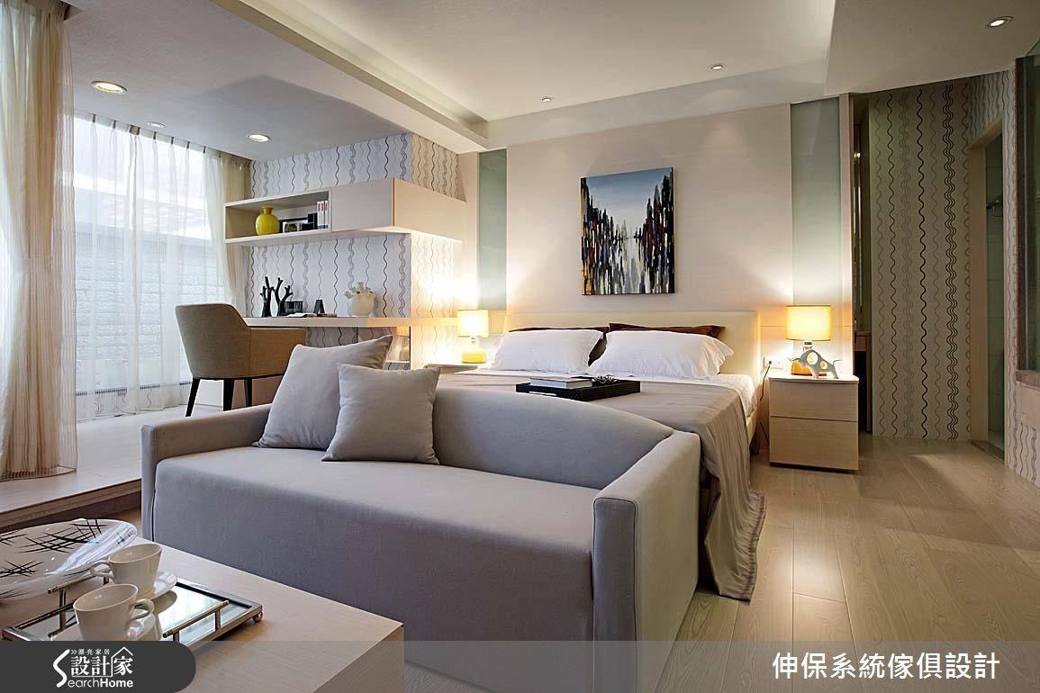 17坪預售屋_北歐風客廳臥室案例圖片_伸保系統傢俱設計_伸保_05之6