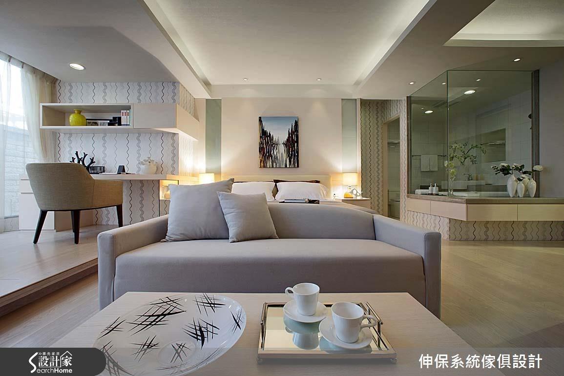 17坪預售屋_北歐風客廳臥室案例圖片_伸保系統傢俱設計_伸保_05之7
