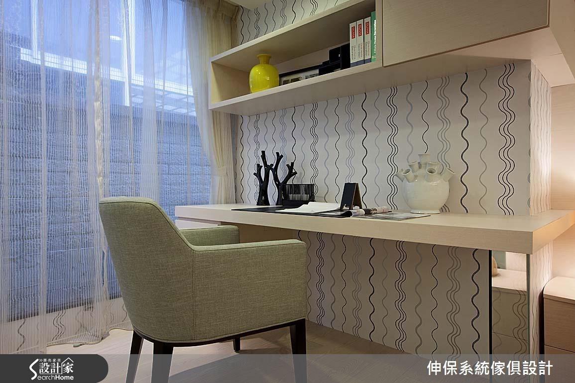17坪預售屋_北歐風書房案例圖片_伸保系統傢俱設計_伸保_05之10