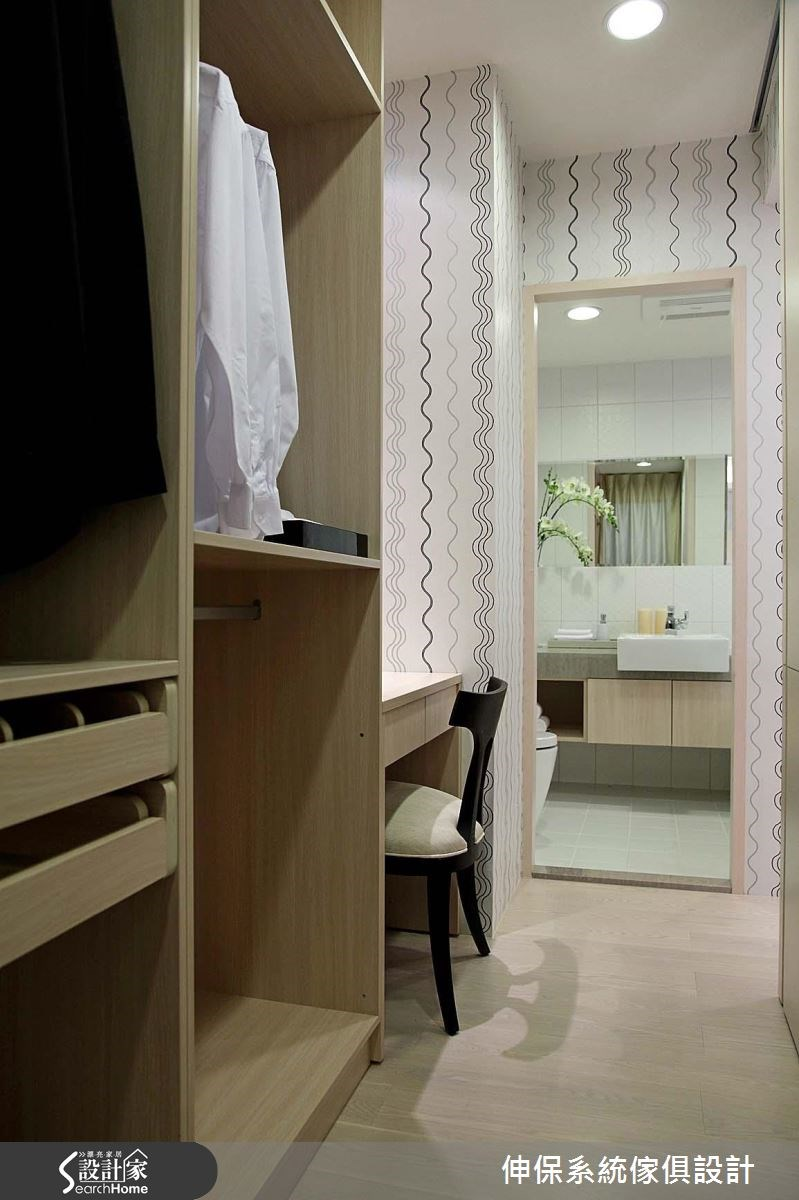 17坪預售屋_北歐風更衣間浴室案例圖片_伸保系統傢俱設計_伸保_05之13