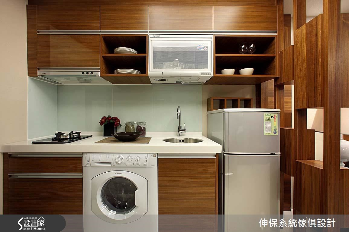17坪預售屋_休閒風廚房案例圖片_伸保系統傢俱設計_伸保_06之2