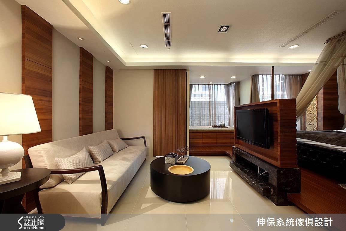 17坪預售屋_休閒風客廳案例圖片_伸保系統傢俱設計_伸保_06之3