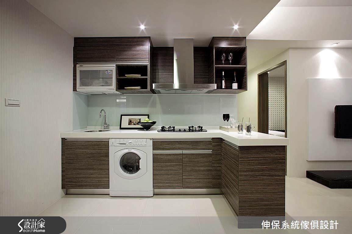 18坪預售屋_混搭風廚房案例圖片_伸保系統傢俱設計_伸保_07之2