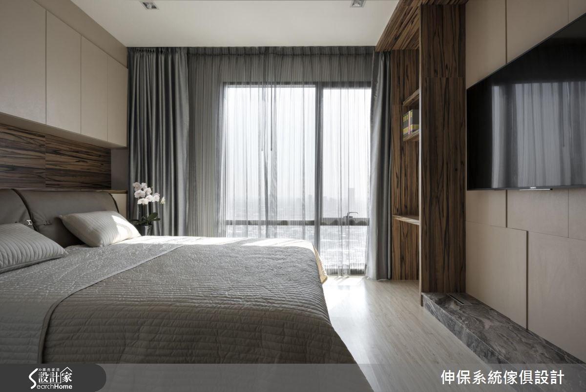 40坪新成屋(5年以下)_混搭風臥室案例圖片_伸保系統傢俱設計_伸保_12之3