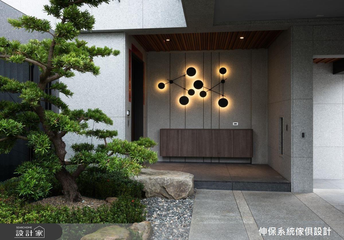 80坪新成屋(5年以下)_現代風玄關案例圖片_伸保系統傢俱設計_伸保_22之1
