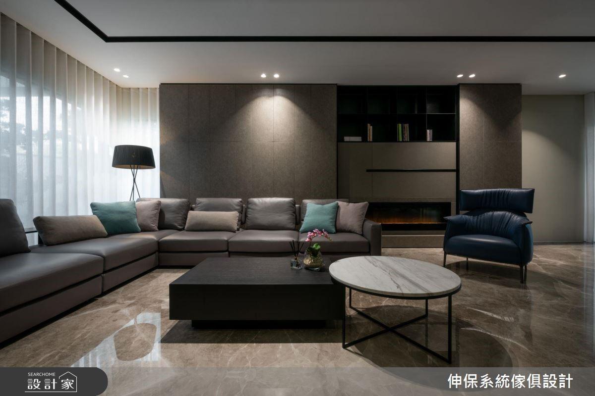 80坪新成屋(5年以下)_現代風客廳案例圖片_伸保系統傢俱設計_伸保_22之4