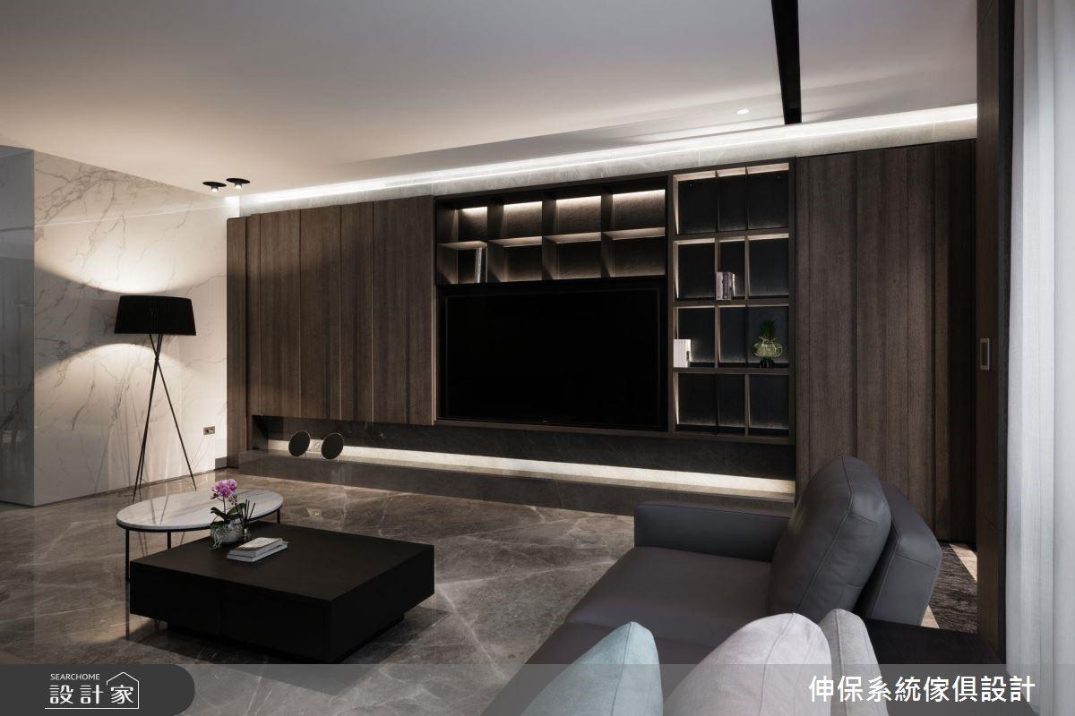 80坪新成屋(5年以下)_現代風客廳案例圖片_伸保系統傢俱設計_伸保_22之3