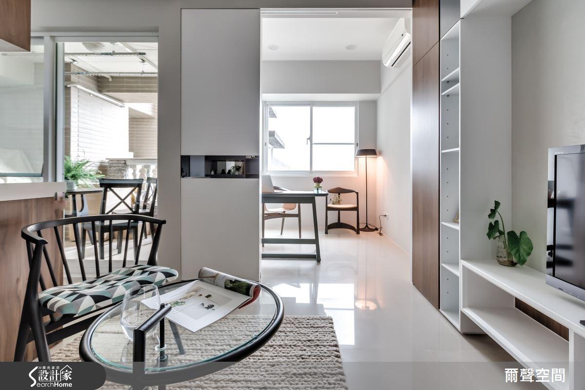 15坪新成屋(5年以下)_現代風客廳案例圖片_爾聲空間設計_爾聲_日光宅之2