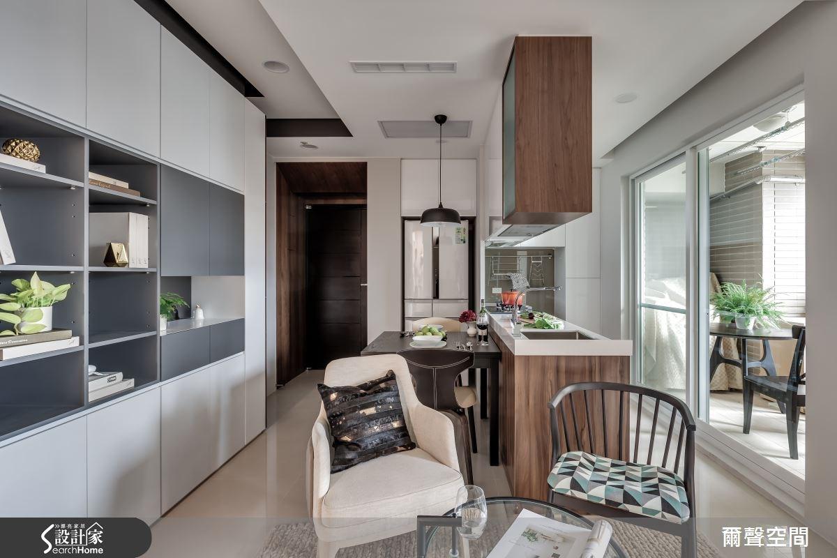 15坪新成屋(5年以下)_現代風餐廳吧檯案例圖片_爾聲空間設計_爾聲_日光宅之3