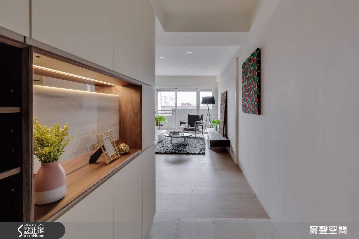 36坪中古屋(5~15年)_現代風玄關客廳案例圖片_爾聲空間設計_爾聲_W Residence 英倫居所之2