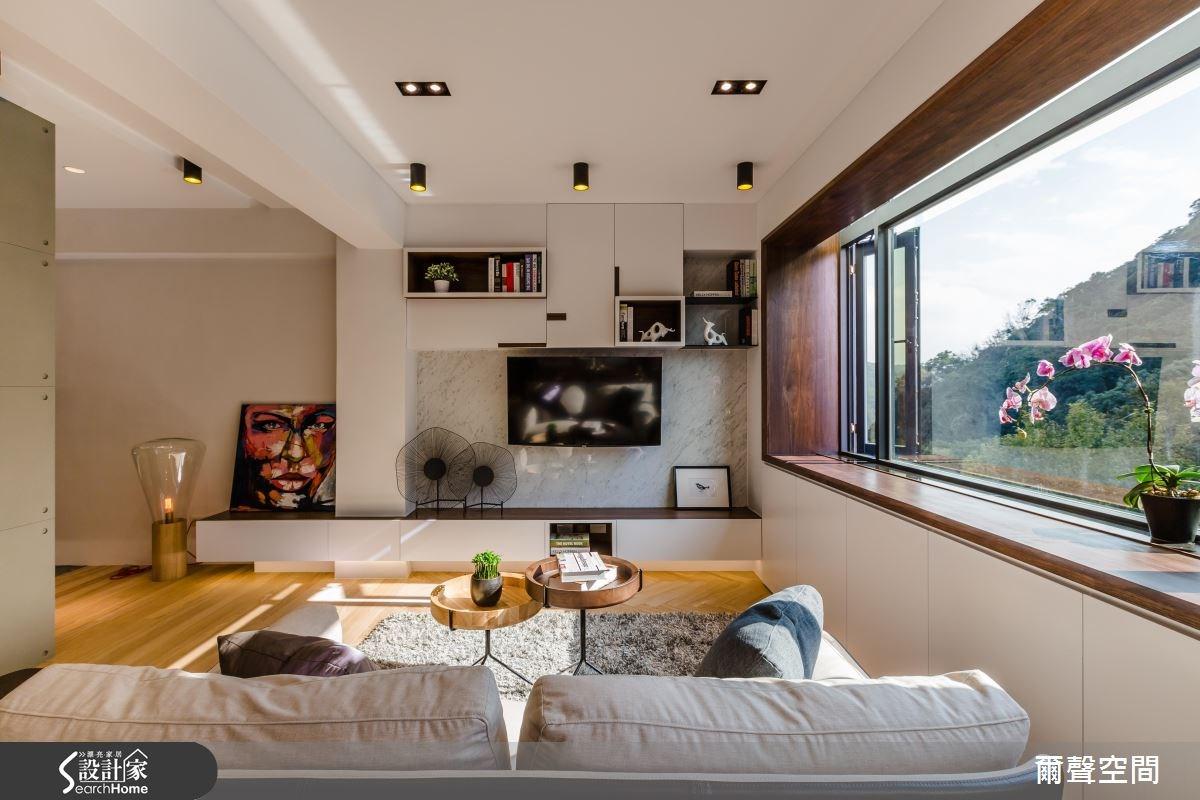 25坪老屋(16~30年)_現代風客廳案例圖片_爾聲空間設計_爾聲_04之3