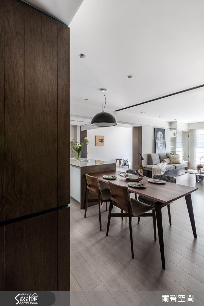 38坪新成屋(5年以下)_現代風餐廳案例圖片_爾聲空間設計_爾聲_Family Life Reimagined之2
