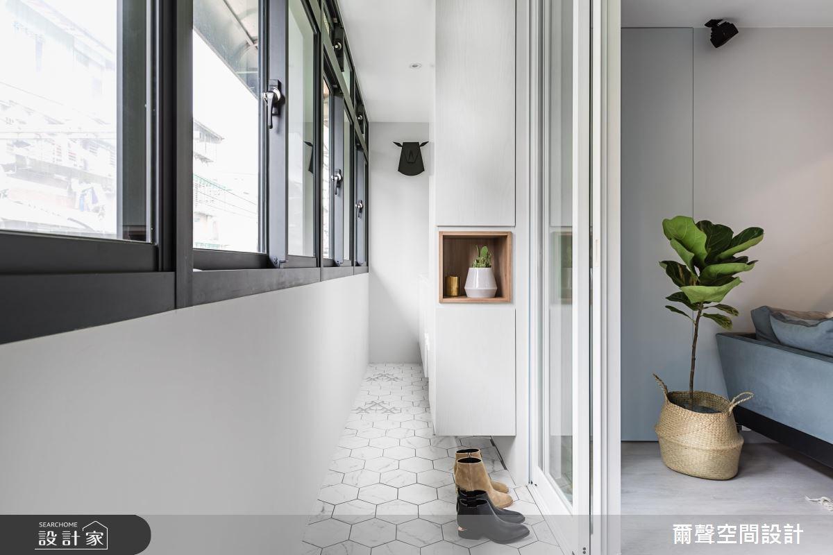 23坪老屋(16~30年)_北歐風陽台案例圖片_爾聲空間設計_爾聲_Project N4 北歐經典之1