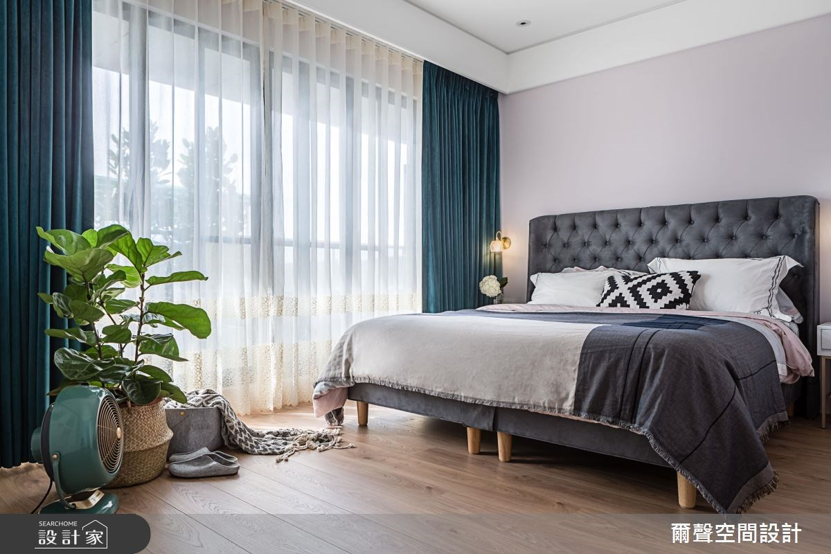 32坪新成屋(5年以下)_混搭風臥室案例圖片_爾聲空間設計_爾聲_The Emerald Chic之17