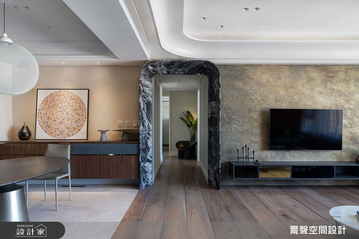 48坪新成屋(5年以下)_現代風走廊案例圖片_爾聲空間設計_爾聲_Dancing Stone 琢磨 舞域之4
