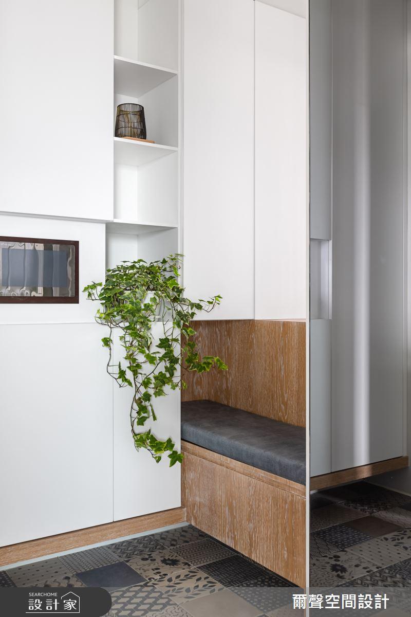 新成屋(5年以下)_北歐風玄關臥榻案例圖片_爾聲空間設計_爾聲_MARCHÉ DE JARDIN 花木。亭亭之2