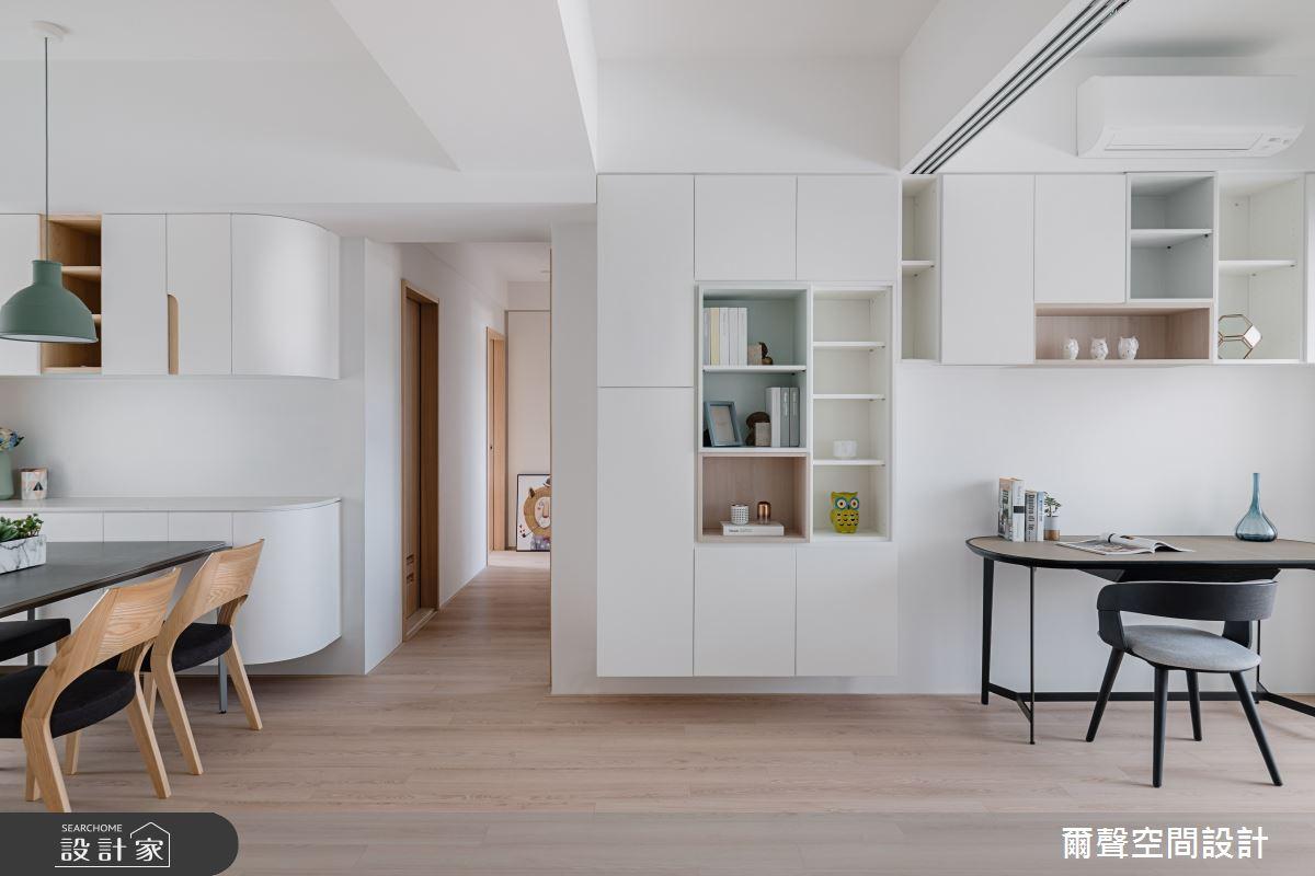 35坪老屋(16~30年)_北歐風餐廳書房案例圖片_爾聲空間設計_爾聲_家的進行曲之14