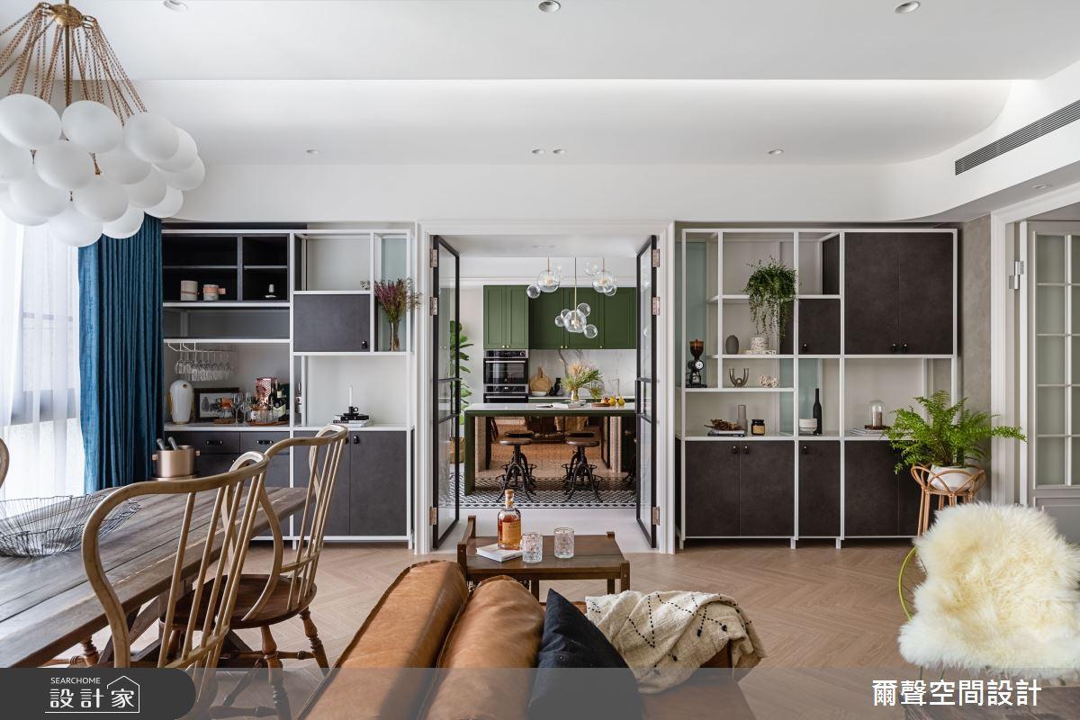 40坪新成屋(5年以下)_新古典吧檯案例圖片_爾聲空間設計_爾聲_Royal Duke 金士曼一號之5