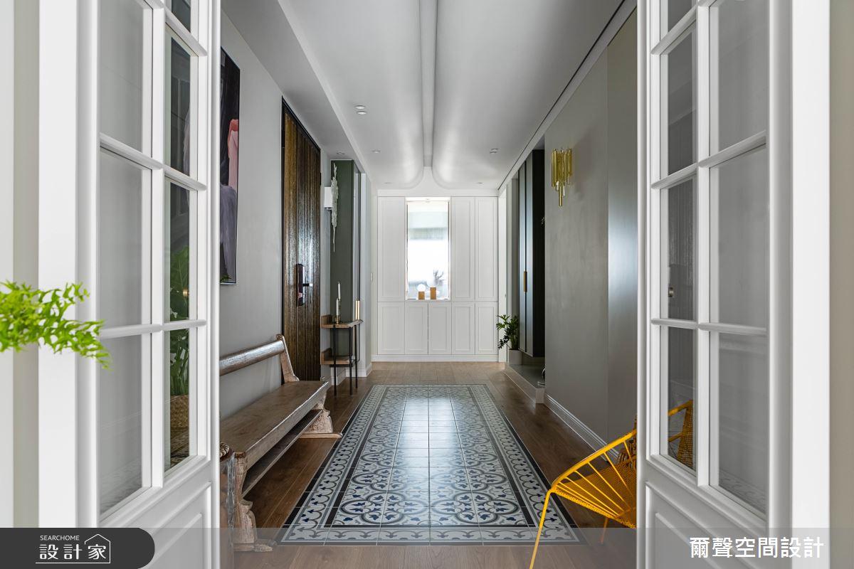 40坪新成屋(5年以下)_新古典玄關案例圖片_爾聲空間設計_爾聲_Royal Duke 金士曼一號之2