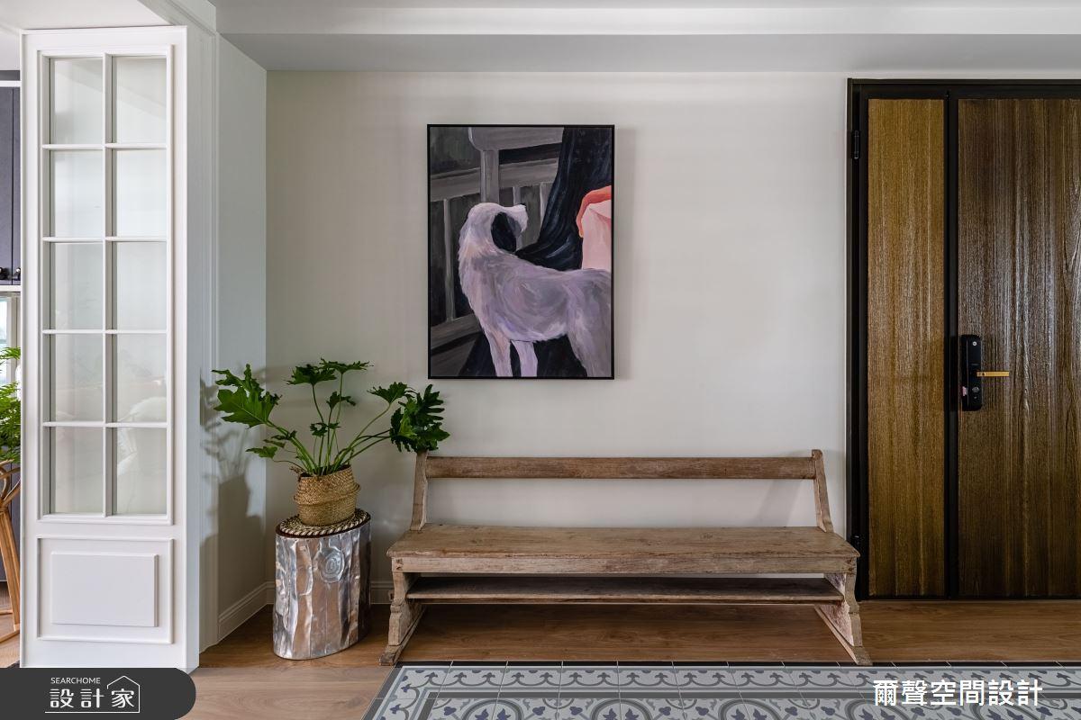 40坪新成屋(5年以下)_新古典玄關案例圖片_爾聲空間設計_爾聲_Royal Duke 金士曼一號之3