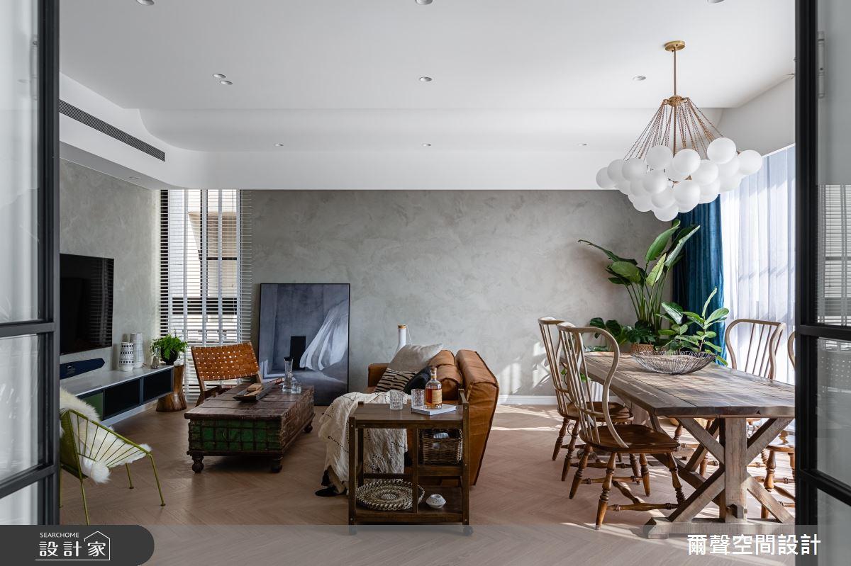 40坪新成屋(5年以下)_新古典客廳餐廳案例圖片_爾聲空間設計_爾聲_Royal Duke 金士曼一號之4