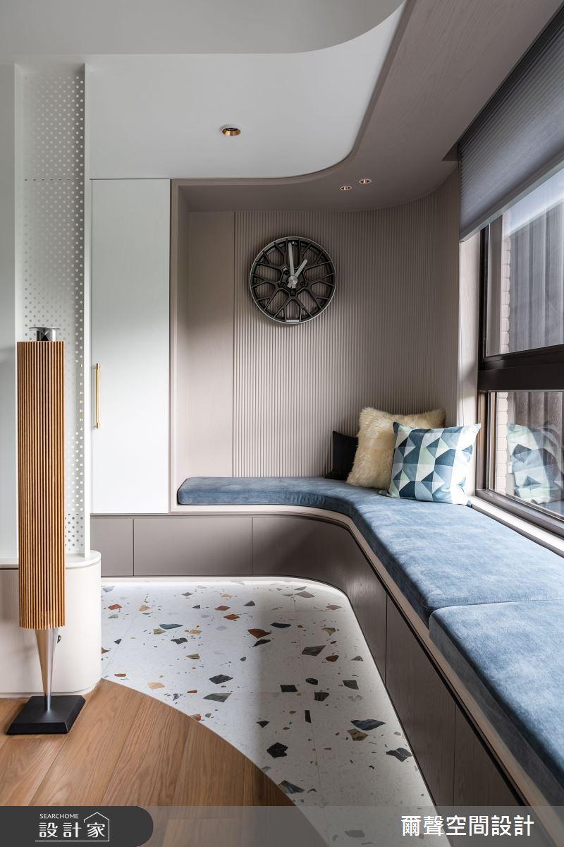 40坪新成屋(5年以下)_混搭風客廳臥榻案例圖片_爾聲空間設計_爾聲_Rink a Blink 庭樹泊舟之4
