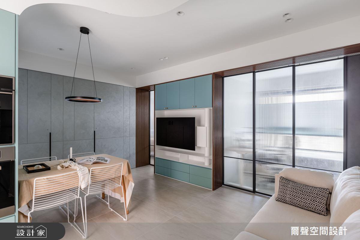 16坪預售屋_現代風餐廳案例圖片_爾聲空間設計_爾聲_Blue Lagoon 一抹藍湖之2