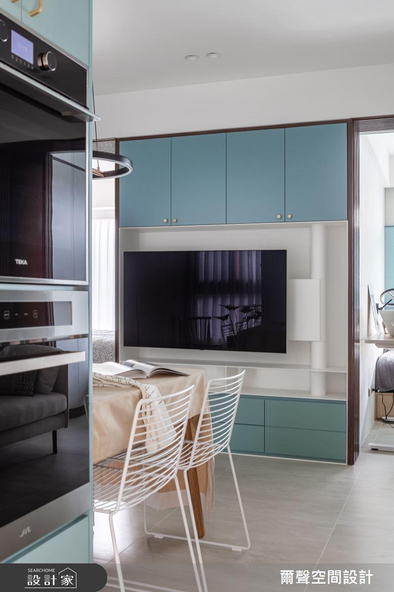 16坪預售屋_現代風餐廳案例圖片_爾聲空間設計_爾聲_Blue Lagoon 一抹藍湖之3