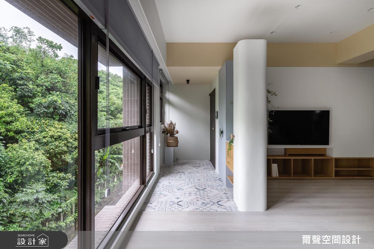 25坪預售屋_北歐風案例圖片_爾聲空間設計_爾聲_Misty Jade 朦朧玉葉之1