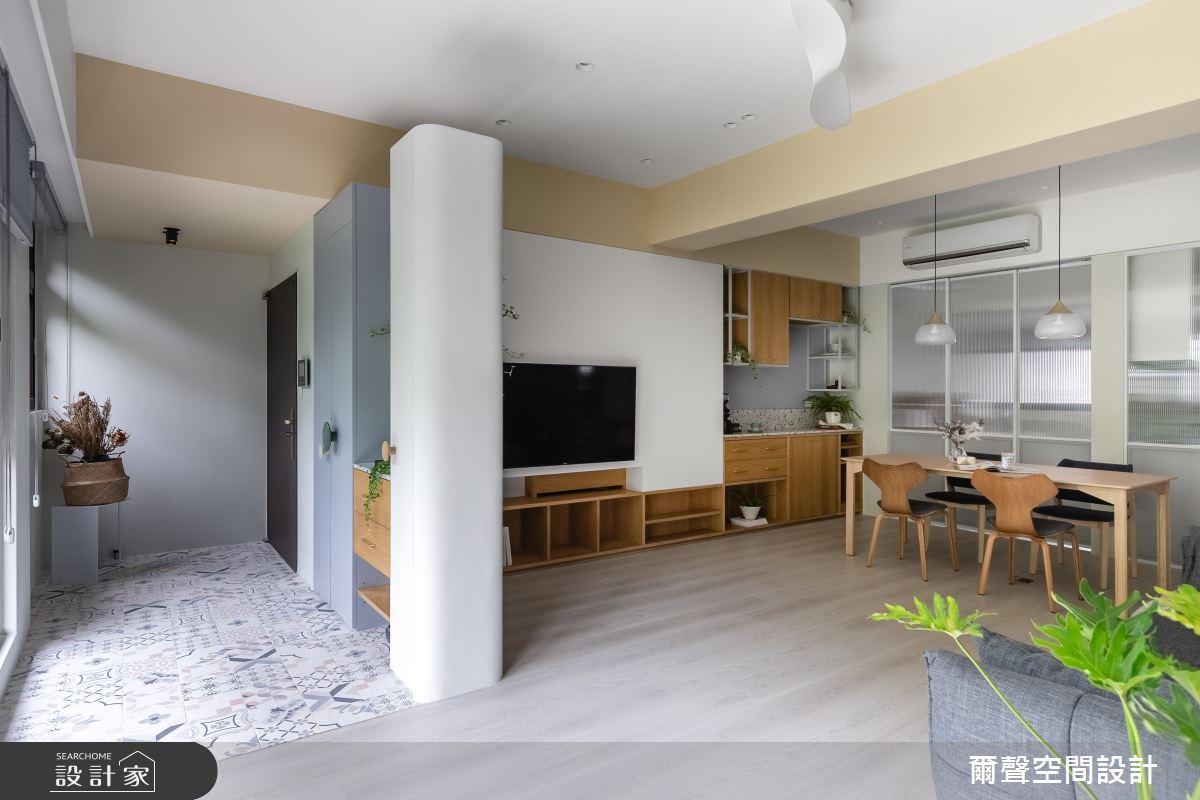 25坪預售屋_北歐風案例圖片_爾聲空間設計_爾聲_Misty Jade 朦朧玉葉之3