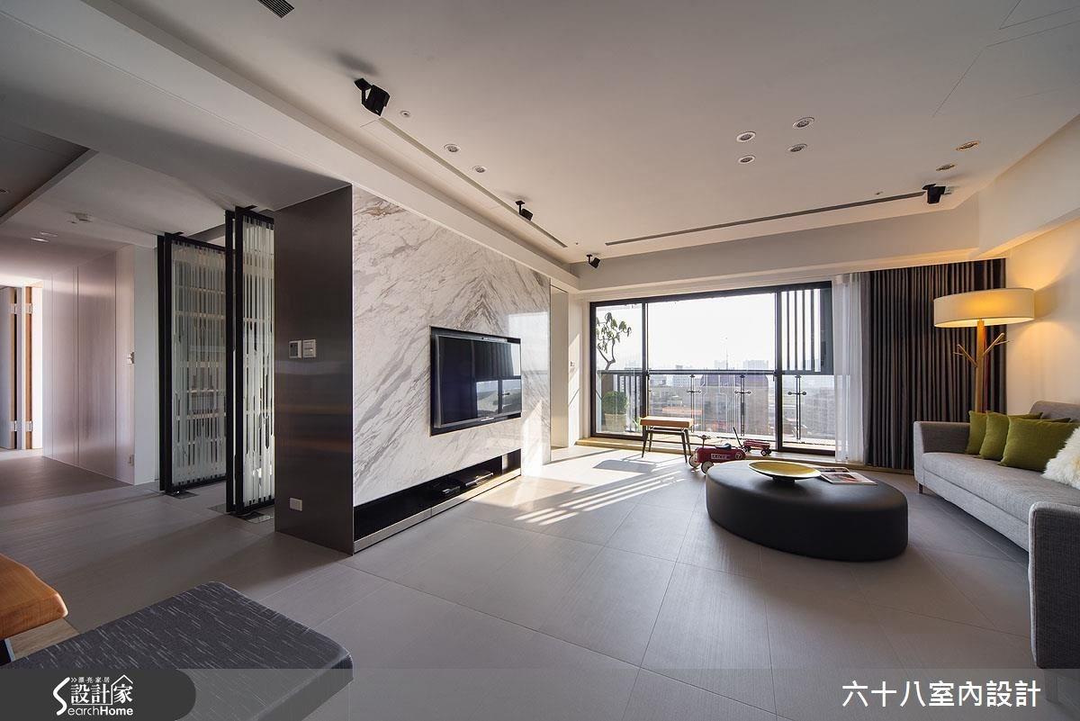 45坪新成屋(5年以下)_混搭風客廳案例圖片_六十八室內設計有限公司_六十八_01之2