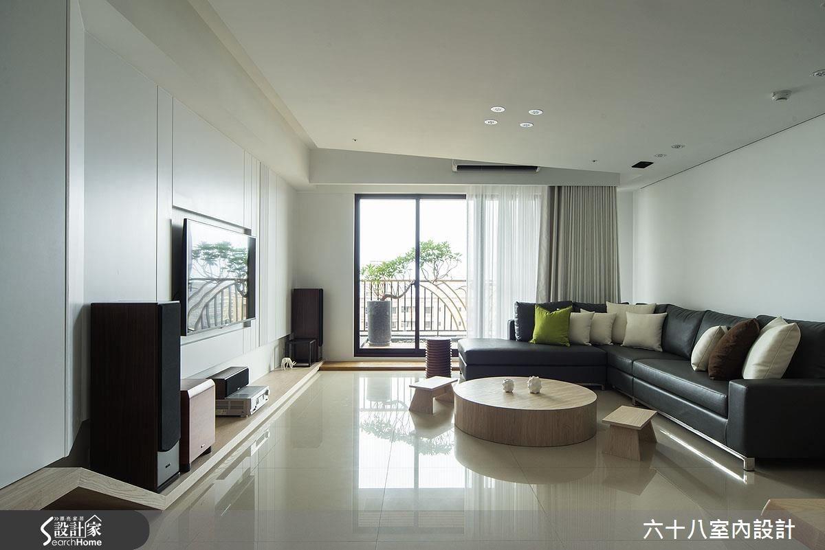 48坪新成屋(5年以下)_混搭風客廳案例圖片_六十八室內設計有限公司_六十八_02之1