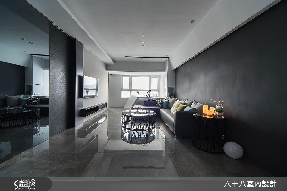 15 坪黑白極簡時尚寓所 用窗景框起一室藍天綠意