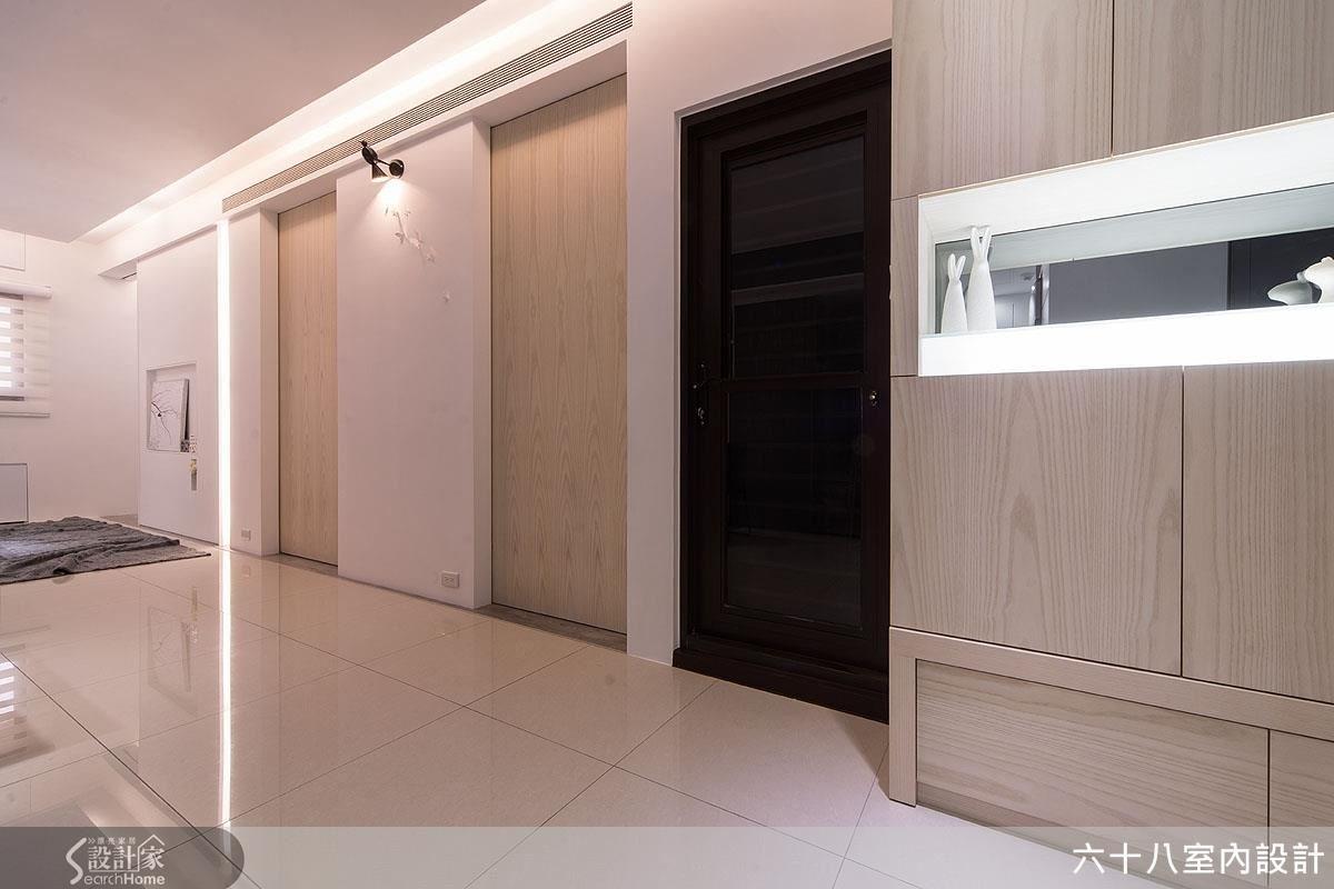 19坪新成屋(5年以下)_混搭風走廊案例圖片_六十八室內設計有限公司_六十八_05之1