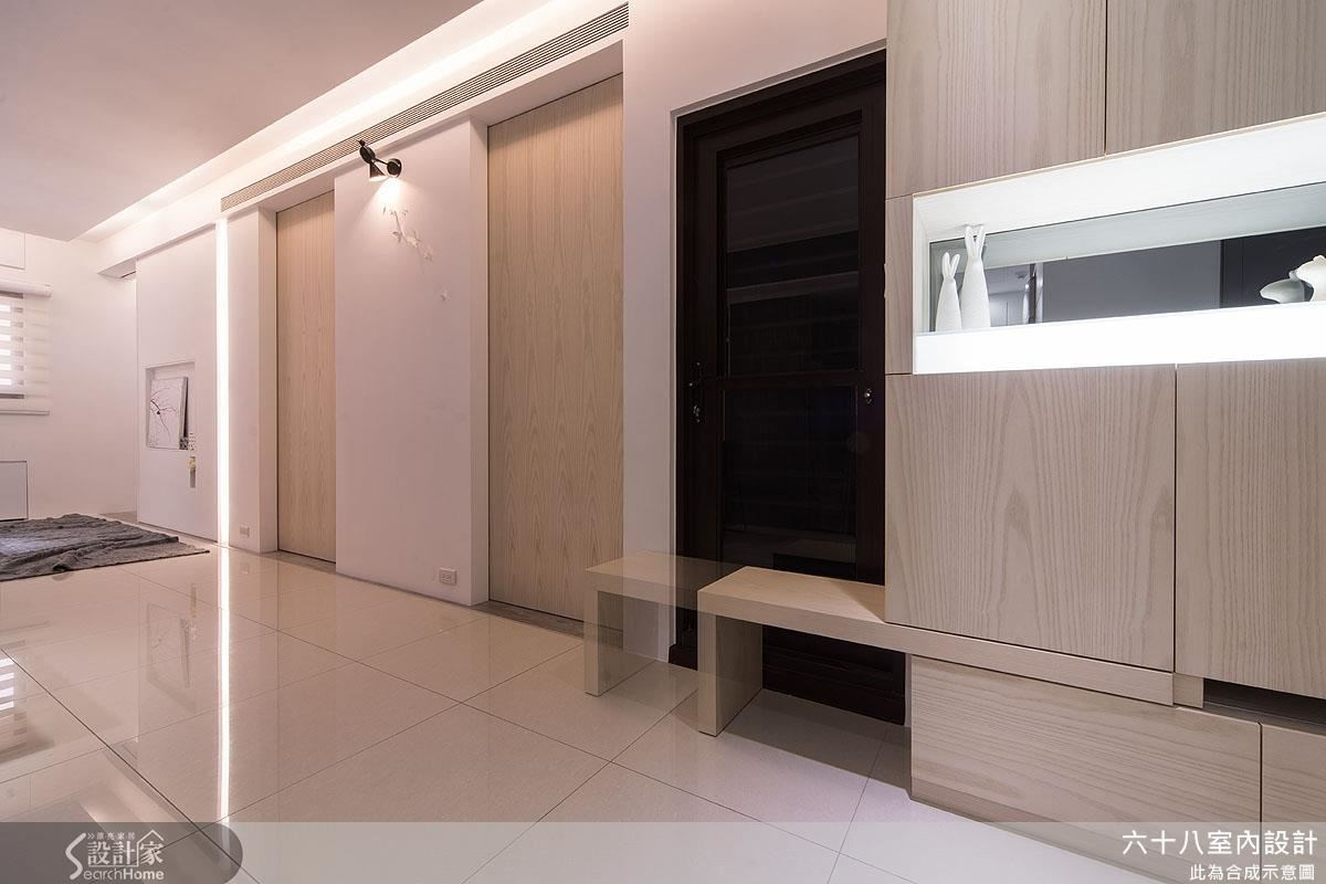 19坪新成屋(5年以下)_混搭風走廊案例圖片_六十八室內設計有限公司_六十八_05之2