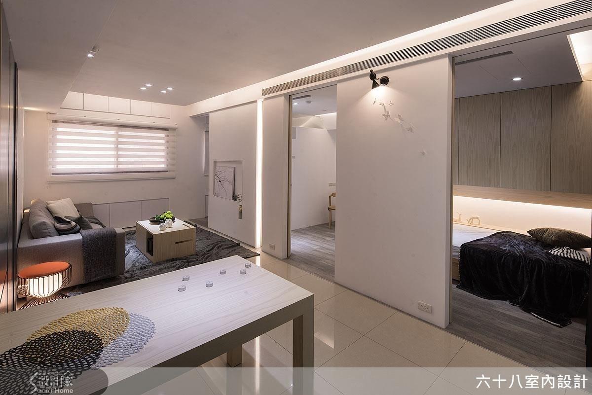 19坪新成屋(5年以下)_混搭風客廳臥室案例圖片_六十八室內設計有限公司_六十八_05之3