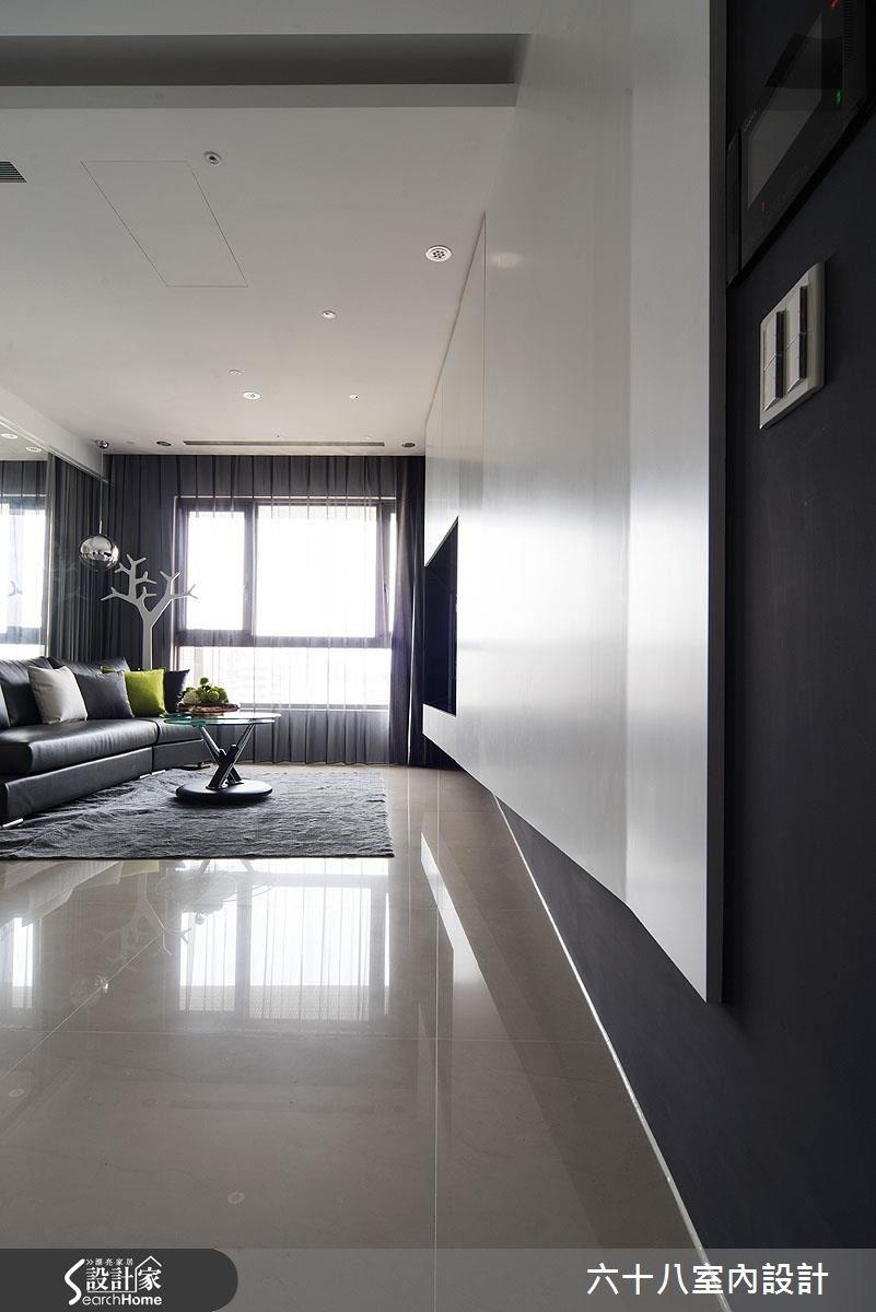 15坪預售屋_混搭風客廳走廊案例圖片_六十八室內設計有限公司_六十八_06之1