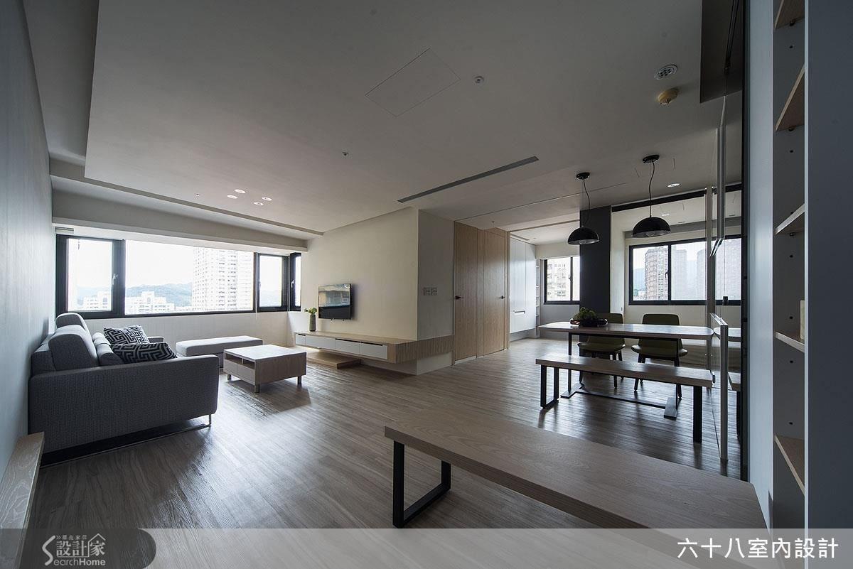 23坪老屋(16~30年)_混搭風客廳餐廳案例圖片_六十八室內設計有限公司_六十八_07之2