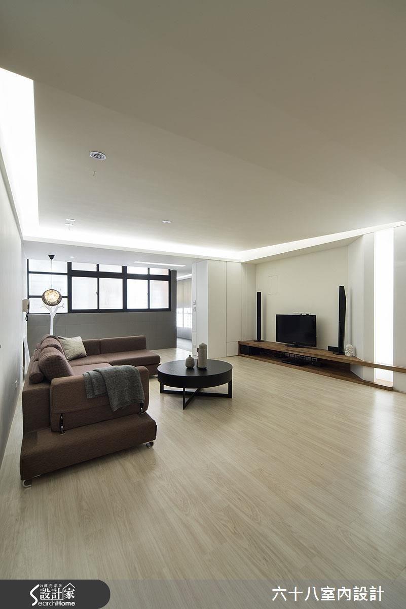 32坪中古屋(5~15年)_混搭風客廳案例圖片_六十八室內設計有限公司_六十八_08之3