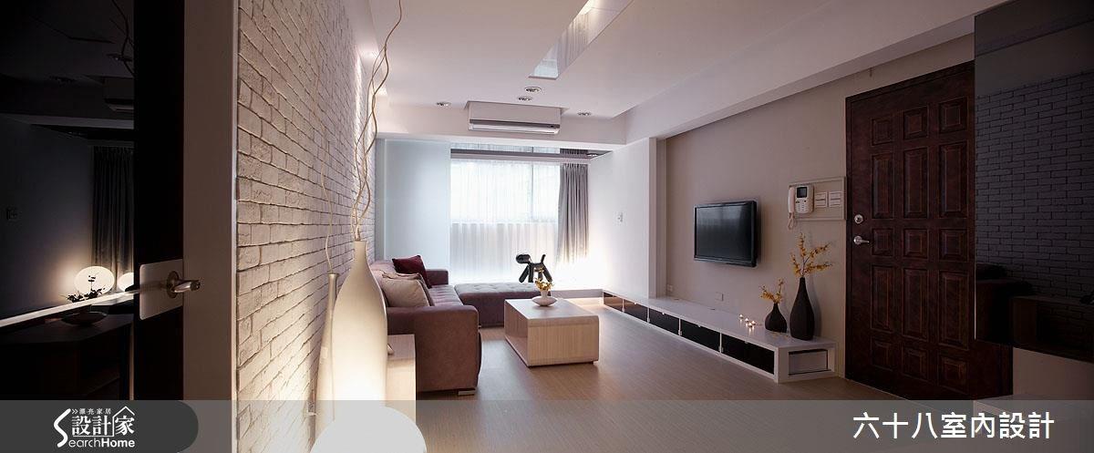 26坪新成屋(5年以下)_混搭風客廳案例圖片_六十八室內設計有限公司_六十八_09之1