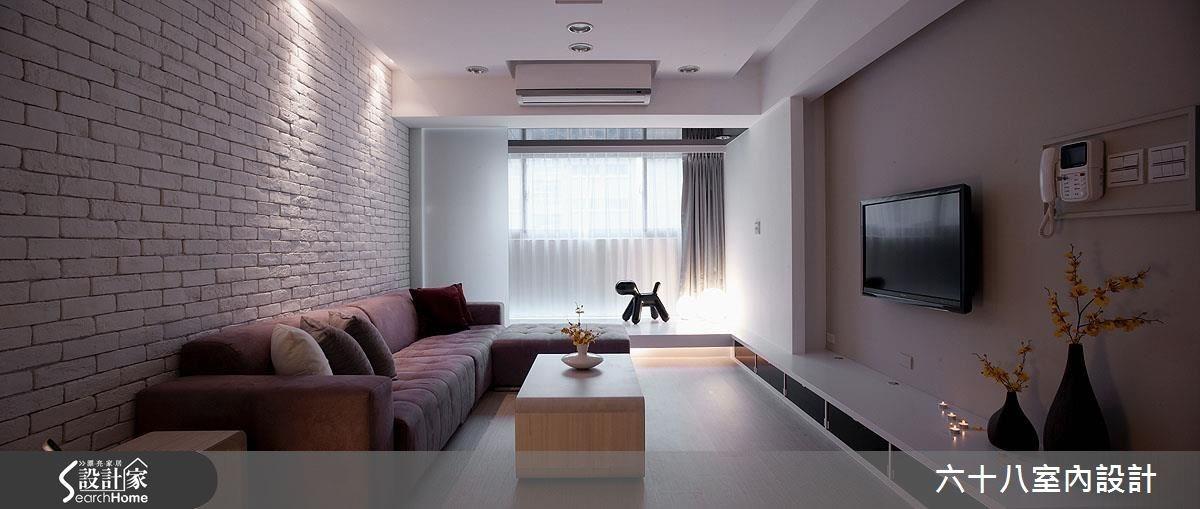 26坪新成屋(5年以下)_混搭風客廳案例圖片_六十八室內設計有限公司_六十八_09之2