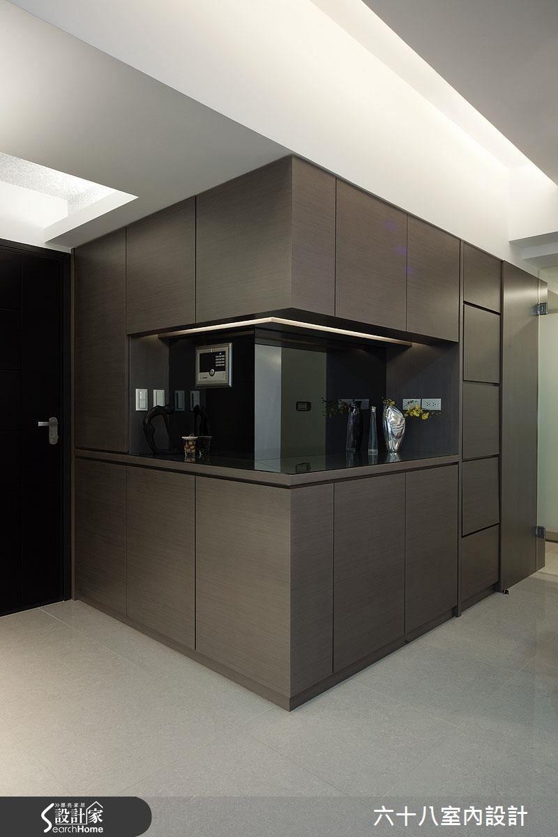26坪新成屋(5年以下)_混搭風玄關案例圖片_六十八室內設計有限公司_六十八_12之1
