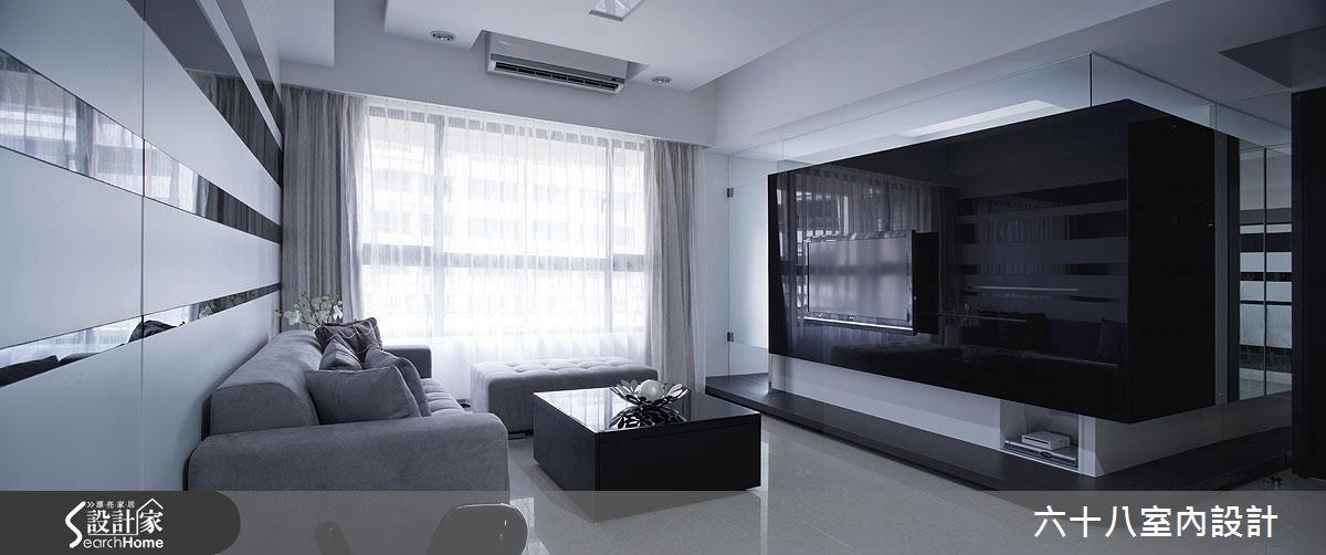 26坪新成屋(5年以下)_混搭風客廳案例圖片_六十八室內設計有限公司_六十八_12之4