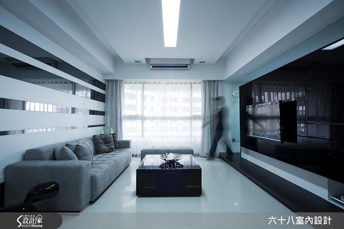 26坪新成屋(5年以下)_混搭風客廳案例圖片_六十八室內設計有限公司_六十八_12之5