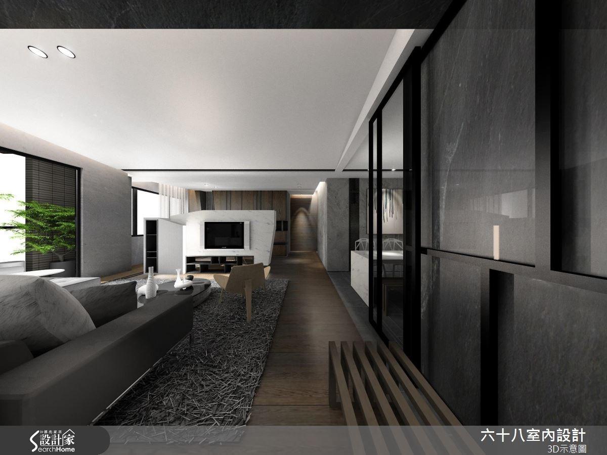 42坪新成屋(5年以下)_混搭風案例圖片_六十八室內設計有限公司_六十八_14之1